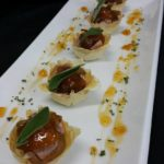 29 Pork terrine with Hoemmade jam on crispy filo tarts (1)