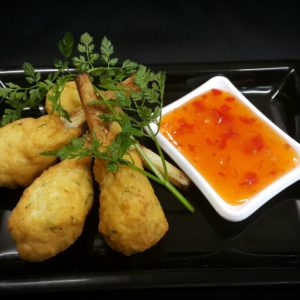 31 Prawn sugar cane lollipops with Thai chili sauce from Delicious Catering at Delicious