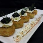 Crab cake & Caviar French Cream cheese & dill
