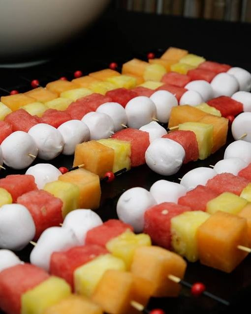 fruity kebabs with marsmallow